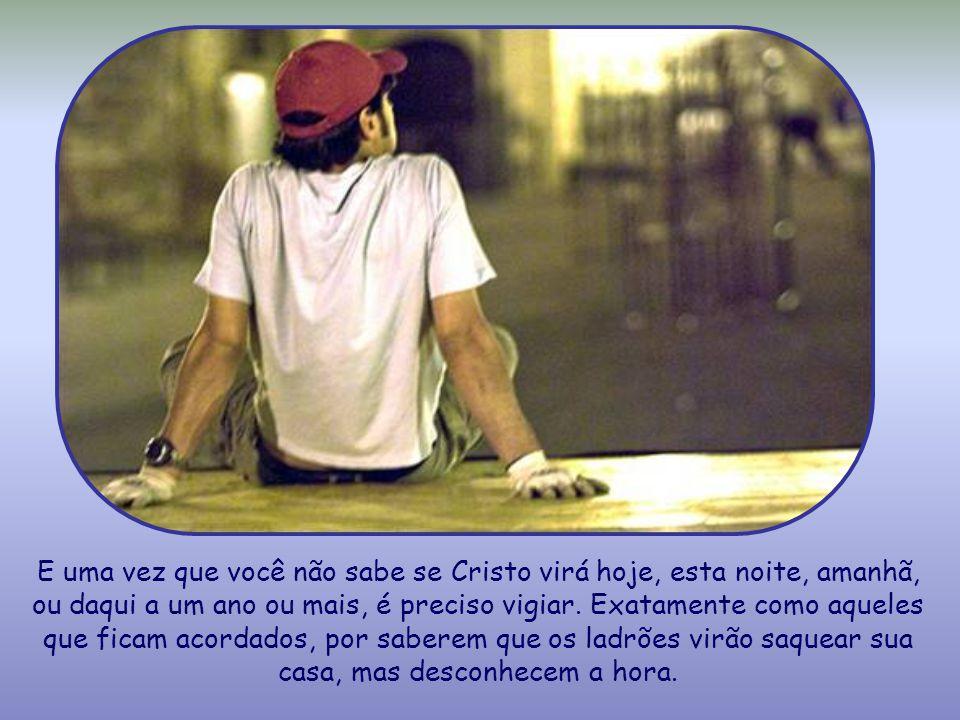 Com essas palavras, Jesus quer referir-se à sua vinda no último dia. Assim como Ele subiu ao céu em meio aos apóstolos, da mesma maneira haverá de vol
