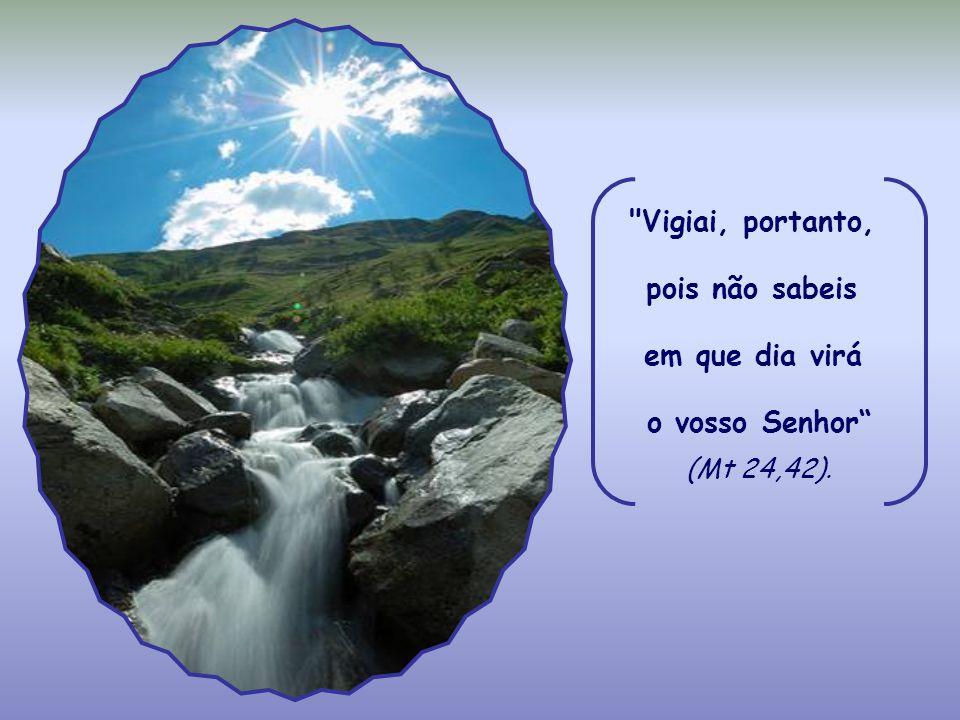 Vigiai, portanto, pois não sabeis em que dia virá o vosso Senhor (Mt 24,42).