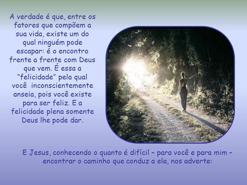 A verdade é que, entre os fatores que compõem a sua vida, existe um do qual ninguém pode escapar: é o encontro frente a frente com Deus que vem.