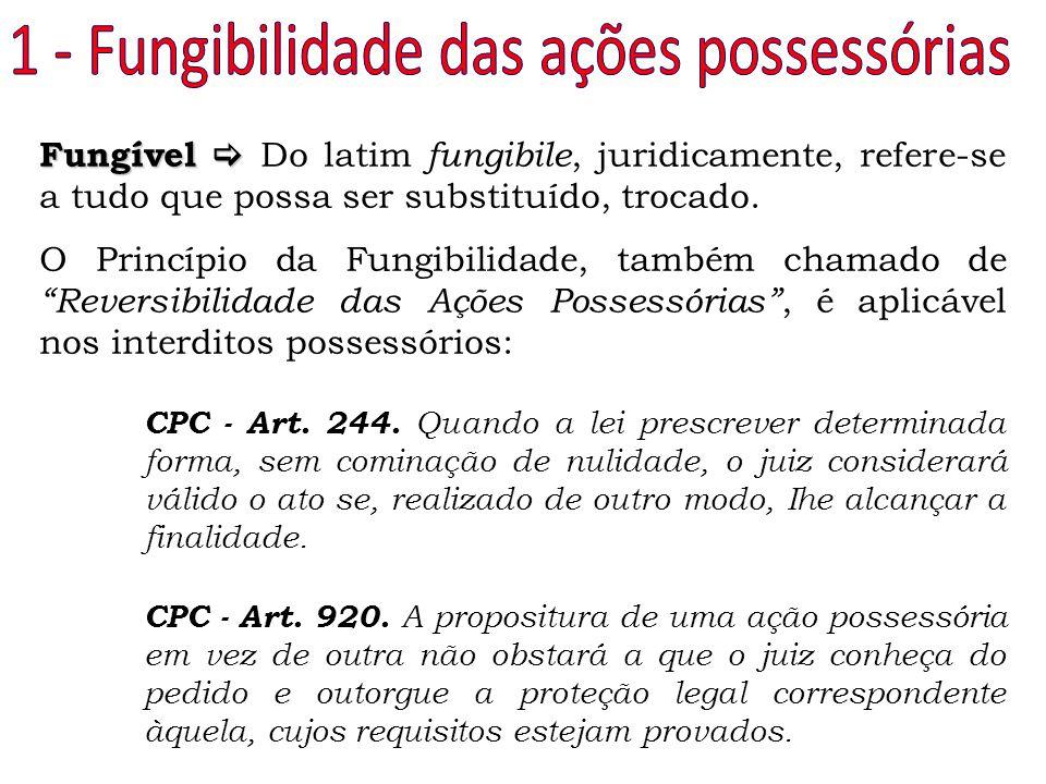Fungível  Fungível  Do latim fungibile, juridicamente, refere-se a tudo que possa ser substituído, trocado. O Princípio da Fungibilidade, também cha