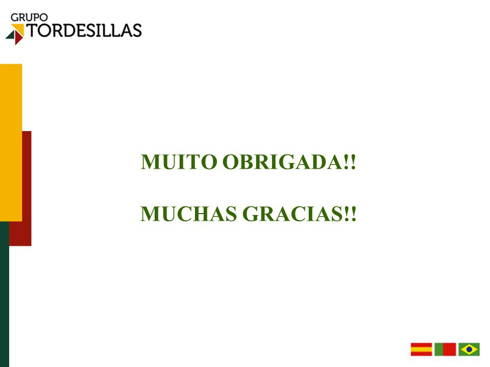 MUITO OBRIGADA!! MUCHAS GRACIAS!!