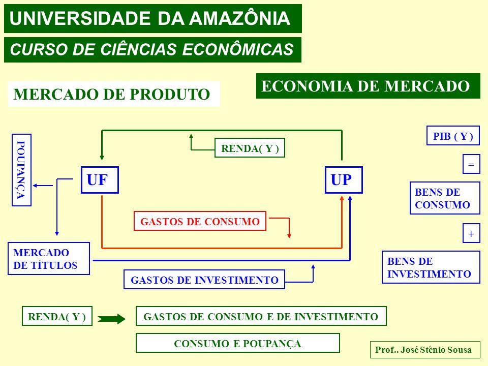 UNIVERSIDADE DA AMAZÔNIA CURSO DE CIÊNCIAS ECONÔMICAS Prof.. José Stênio Sousa ECONOMIA DE MERCADO MERCADO DE PRODUTO UFUP FLUXO DE RENDA OFERTA DE BE