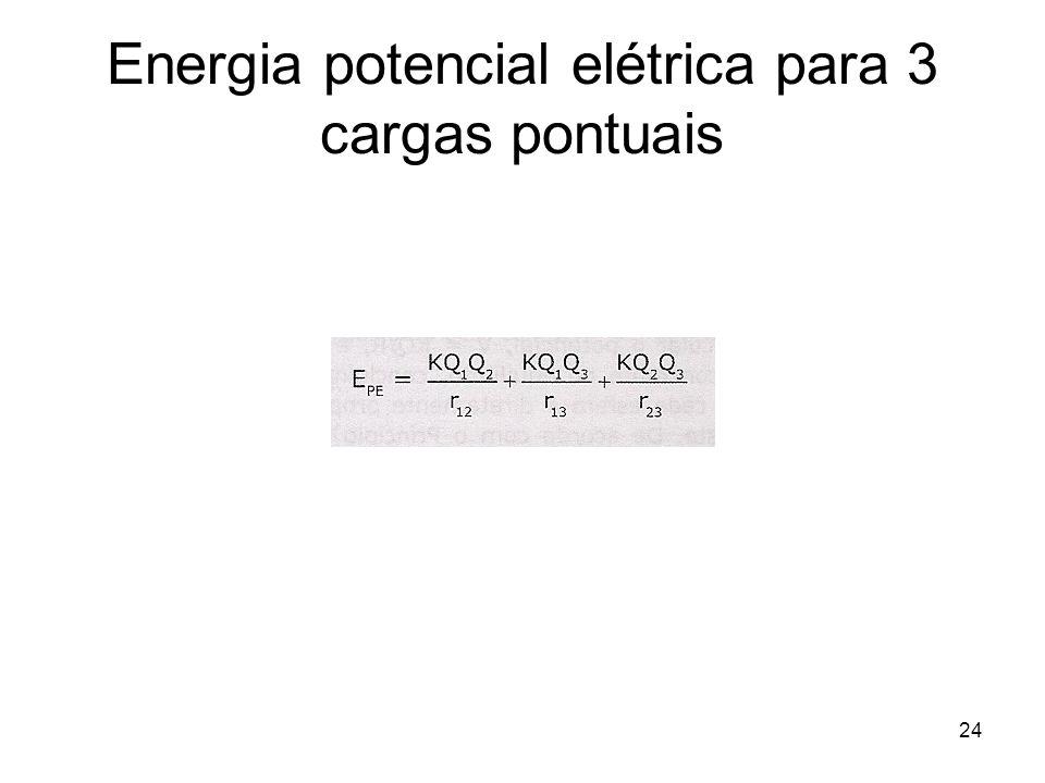 24 Energia potencial elétrica para 3 cargas pontuais