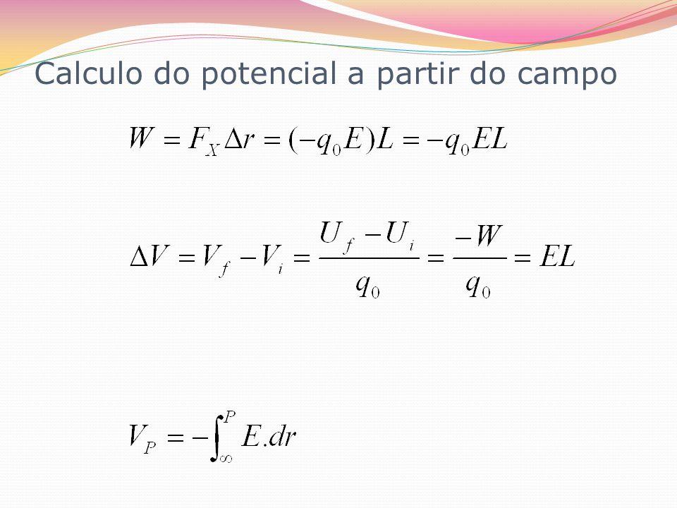 Calculo do potencial a partir do campo