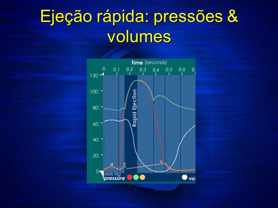 Ejeção rápida: pressões & volumes