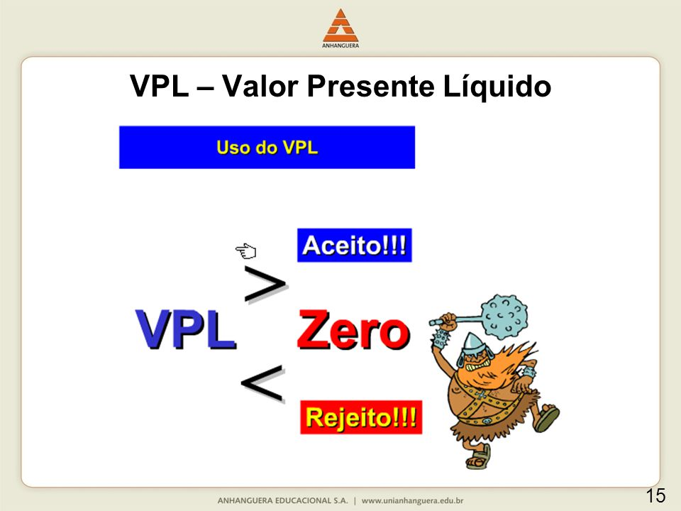 VPL – Valor Presente Líquido 15