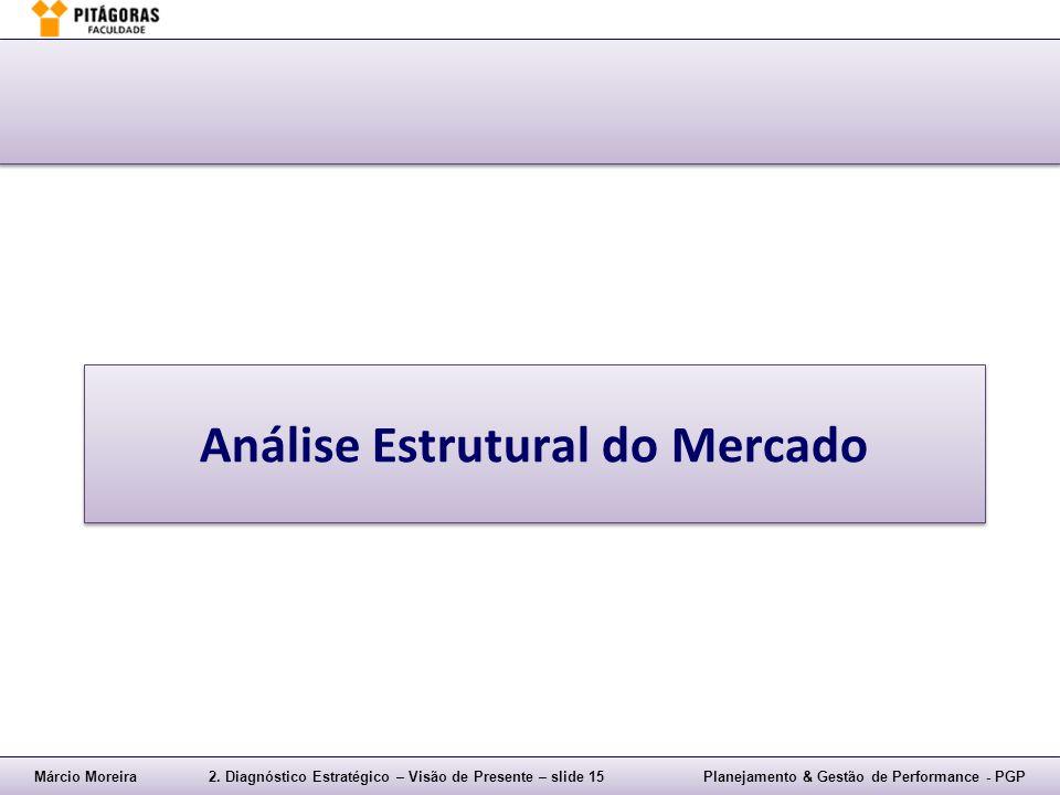 Márcio Moreira2. Diagnóstico Estratégico – Visão de Presente – slide 15Planejamento & Gestão de Performance - PGP Análise Estrutural do Mercado
