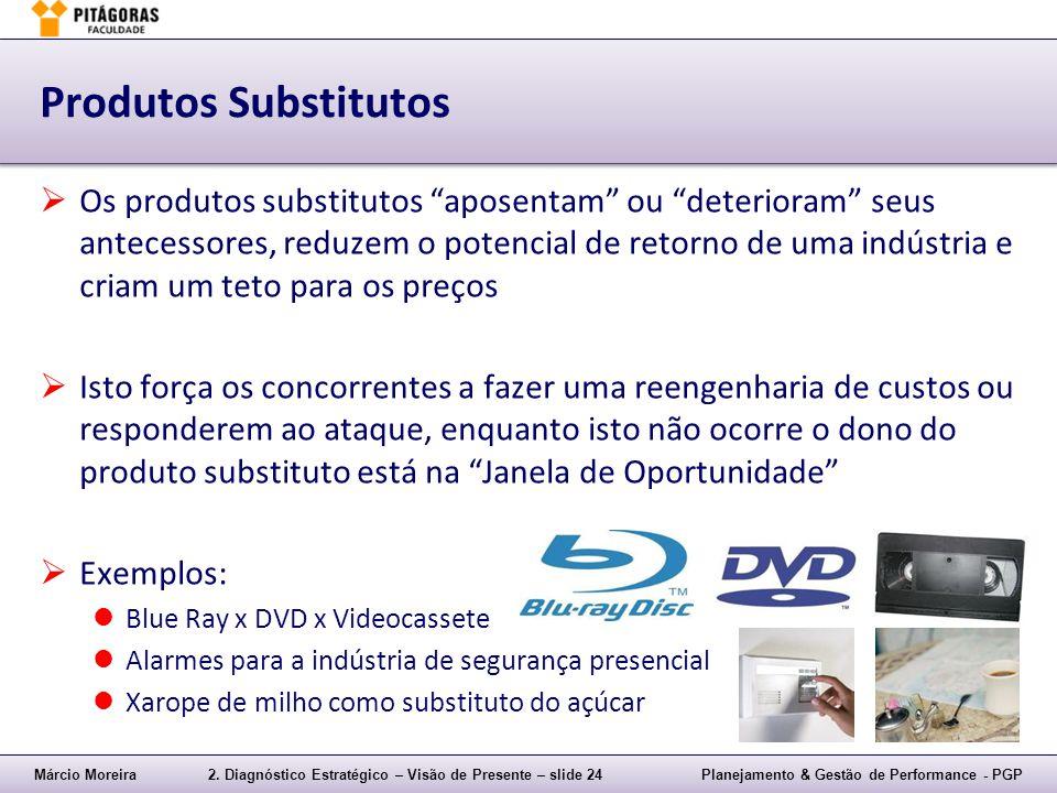 Márcio Moreira2. Diagnóstico Estratégico – Visão de Presente – slide 24Planejamento & Gestão de Performance - PGP Produtos Substitutos  Os produtos s