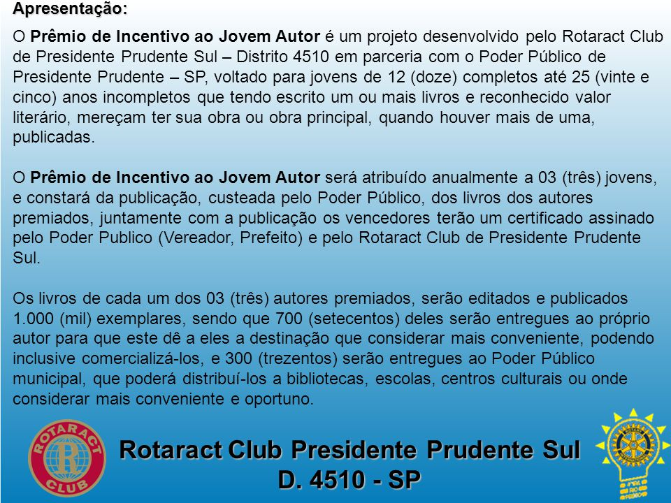 Rotaract Club Presidente Prudente Sul D.