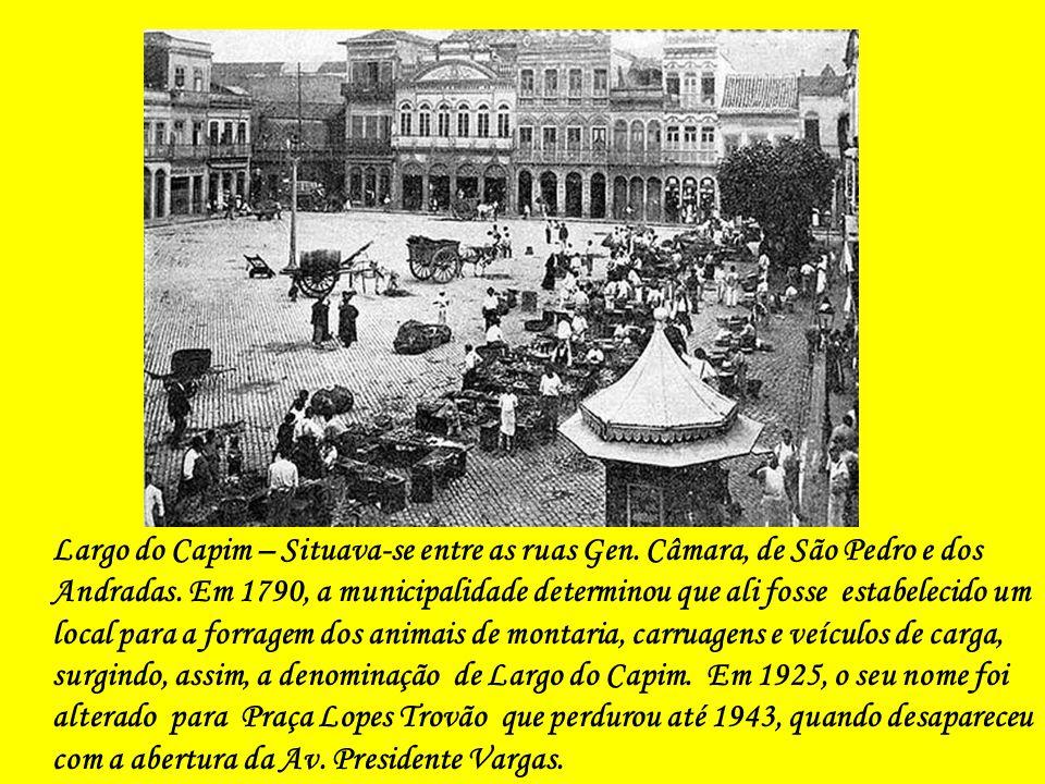 Rua General Câmara, desaparecida com a abertura da Av. Presidente Vargas (Foto de Augusto Malta)