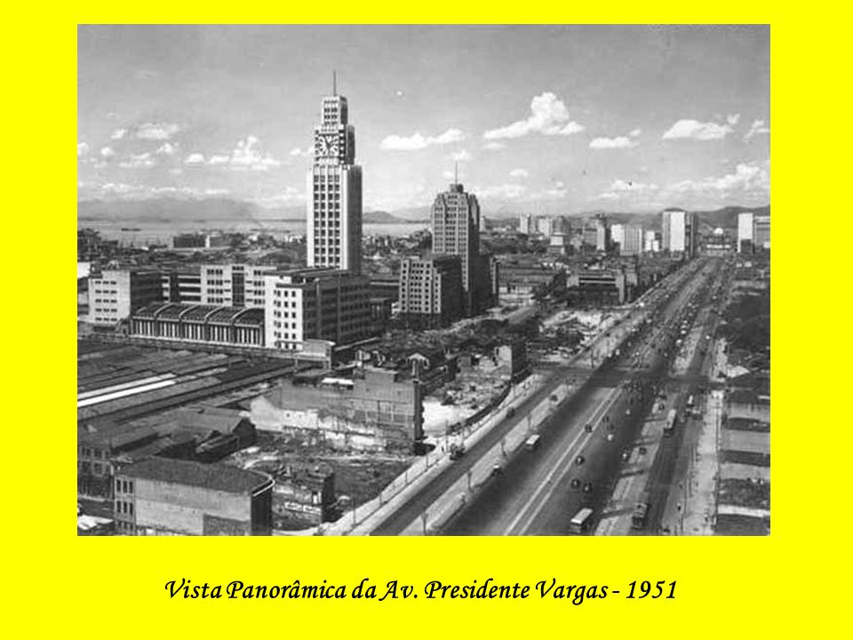 Vista Panorâmica da Av. Presidente Vargas - 1949