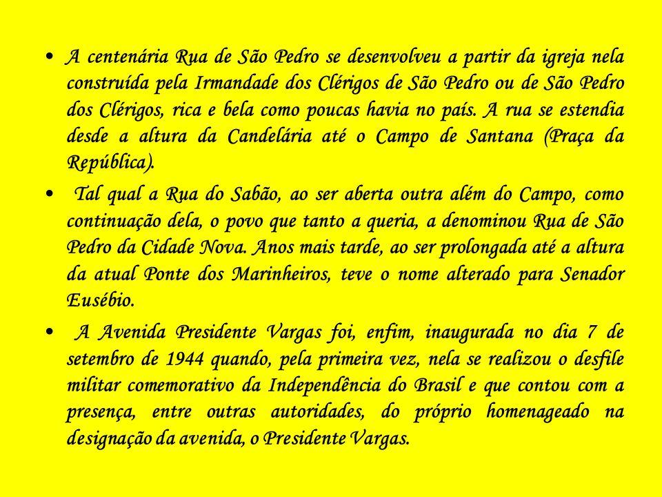 O centenário Canal do Mangue, na Av.Presidente Vargas.