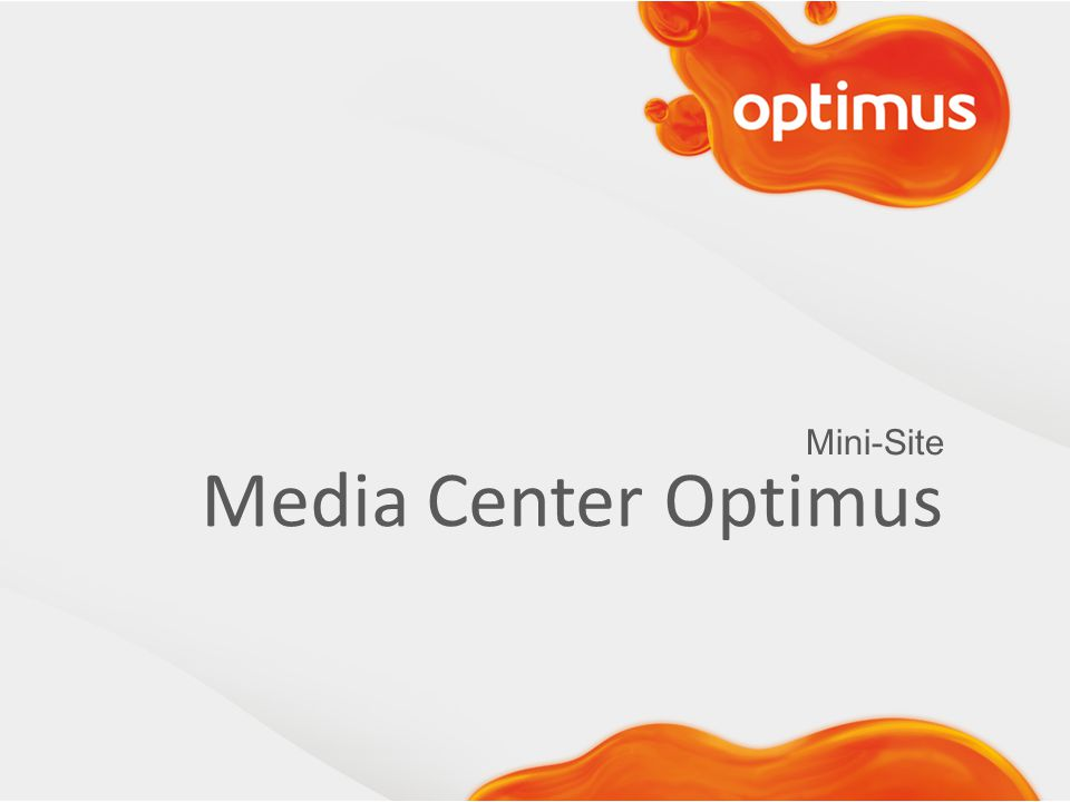 Mini-Site Media Center Optimus