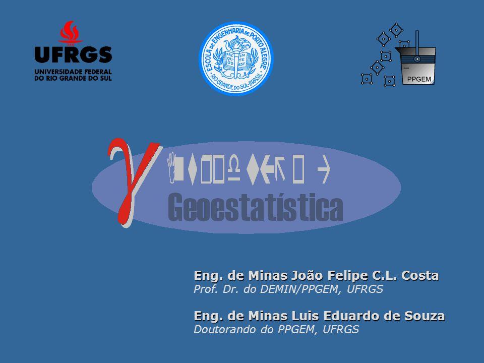 Eng. de Minas João Felipe C.L. Costa Prof. Dr. do DEMIN/PPGEM, UFRGS Eng. de Minas Luis Eduardo de Souza Doutorando do PPGEM, UFRGS