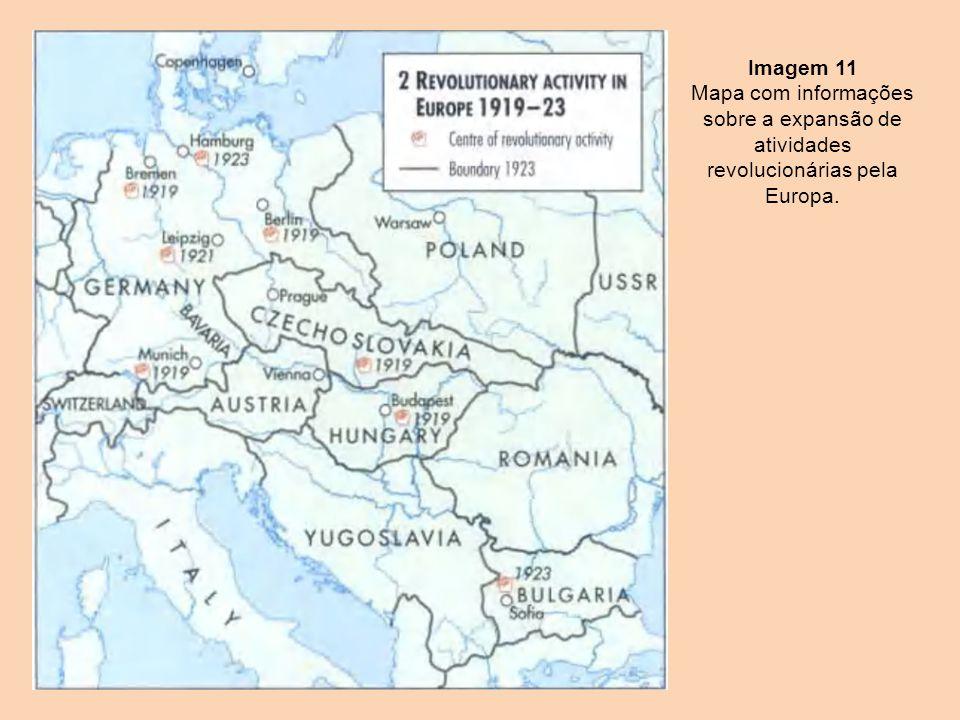 Imagem 11 Mapa com informações sobre a expansão de atividades revolucionárias pela Europa.