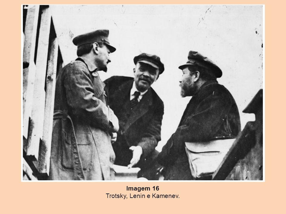 Imagem 16 Trotsky, Lenin e Kamenev.