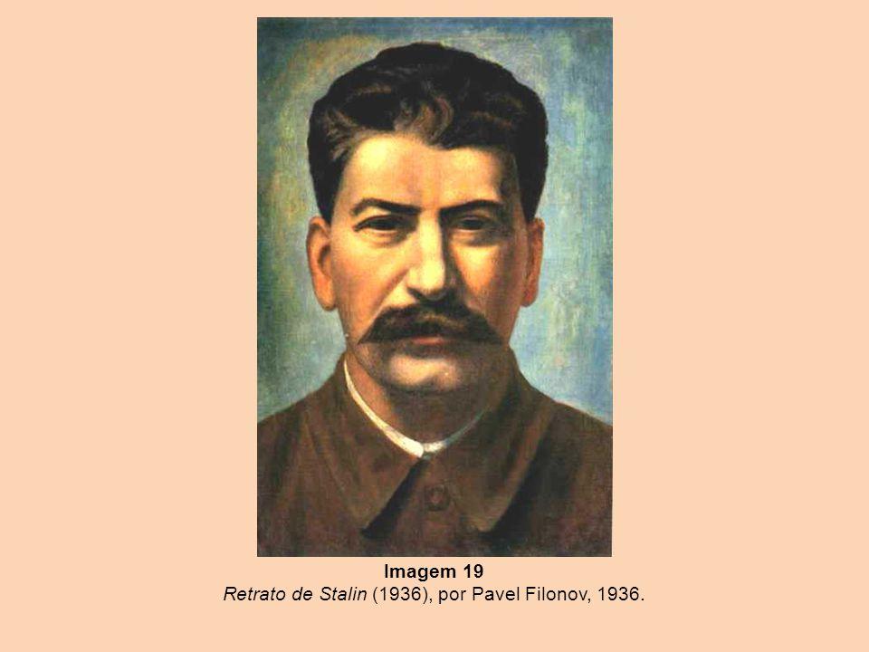 Imagem 19 Retrato de Stalin (1936), por Pavel Filonov, 1936.