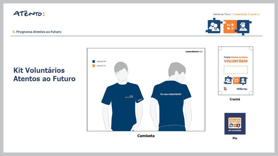 Kit Voluntários Atentos ao Futuro Atentos ao Futuro   Apresentação Corporativa 4. Programa Atentos ao Futuro