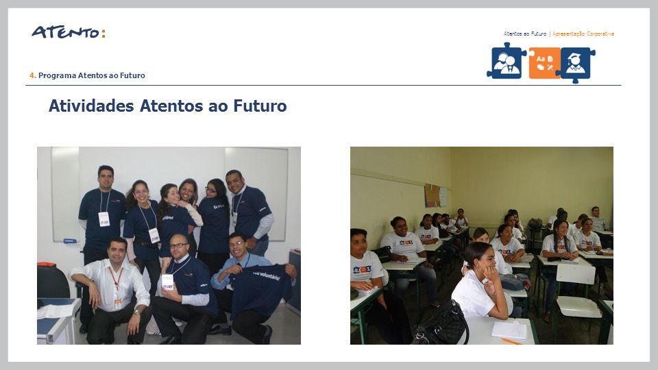 4. Programa Atentos ao Futuro Atentos ao Futuro   Apresentação Corporativa Atividades Atentos ao Futuro