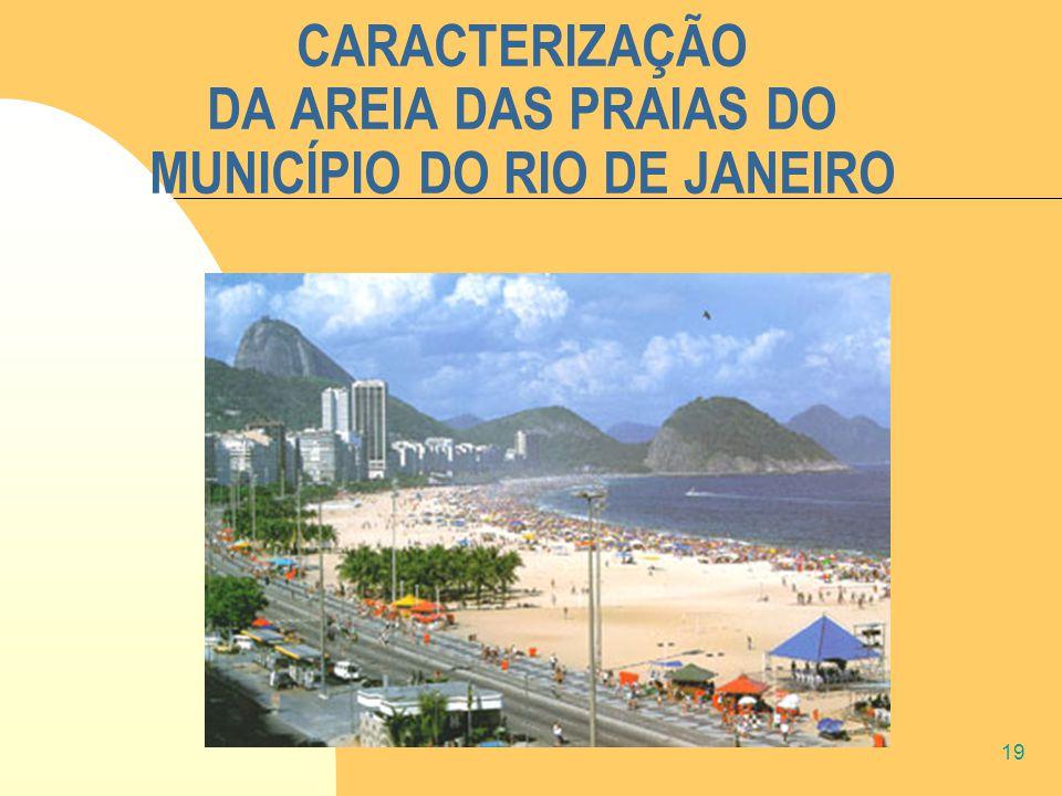 19 CARACTERIZAÇÃO DA AREIA DAS PRAIAS DO MUNICÍPIO DO RIO DE JANEIRO