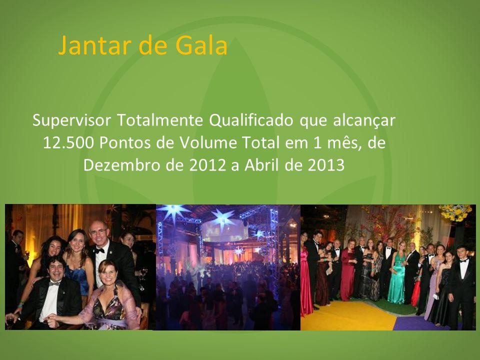 Jantar de Gala Supervisor Totalmente Qualificado que alcançar 12.500 Pontos de Volume Total em 1 mês, de Dezembro de 2012 a Abril de 2013