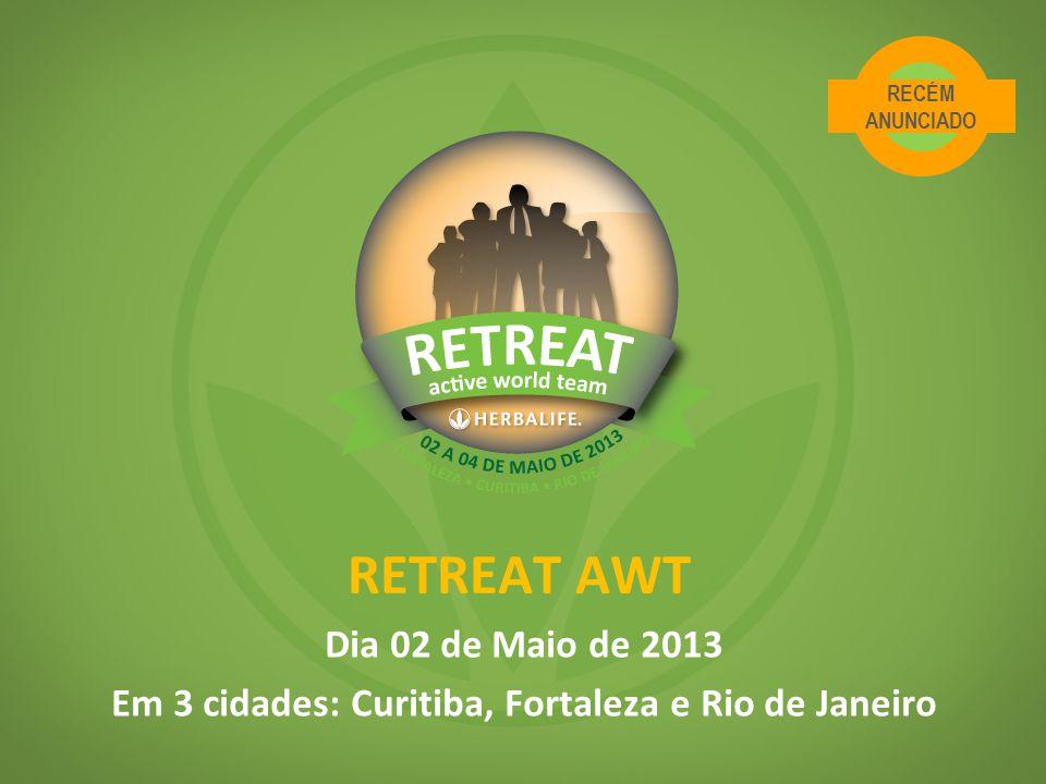 RETREAT AWT Dia 02 de Maio de 2013 Em 3 cidades: Curitiba, Fortaleza e Rio de Janeiro RECÉM ANUNCIADO
