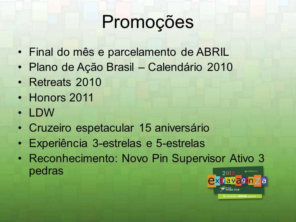 *Somente para os qualificados que participarem do Cruzeiro Experiência 5 Estrelas* Na viagem de incentivo Cruzeiro Espetacular do 15º aniversário, um grupo de elite, qualificados a Experiência 5-Estrelas terão um tratamento único e inesquecível!
