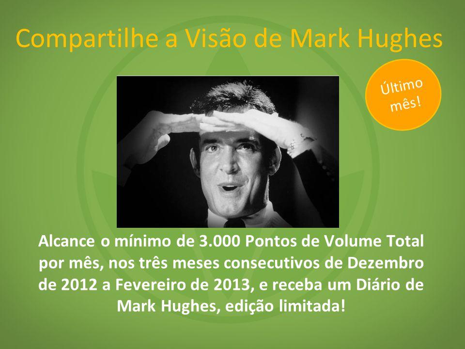 Alcance o mínimo de 3.000 Pontos de Volume Total por mês, nos três meses consecutivos de Dezembro de 2012 a Fevereiro de 2013, e receba um Diário de Mark Hughes, edição limitada.