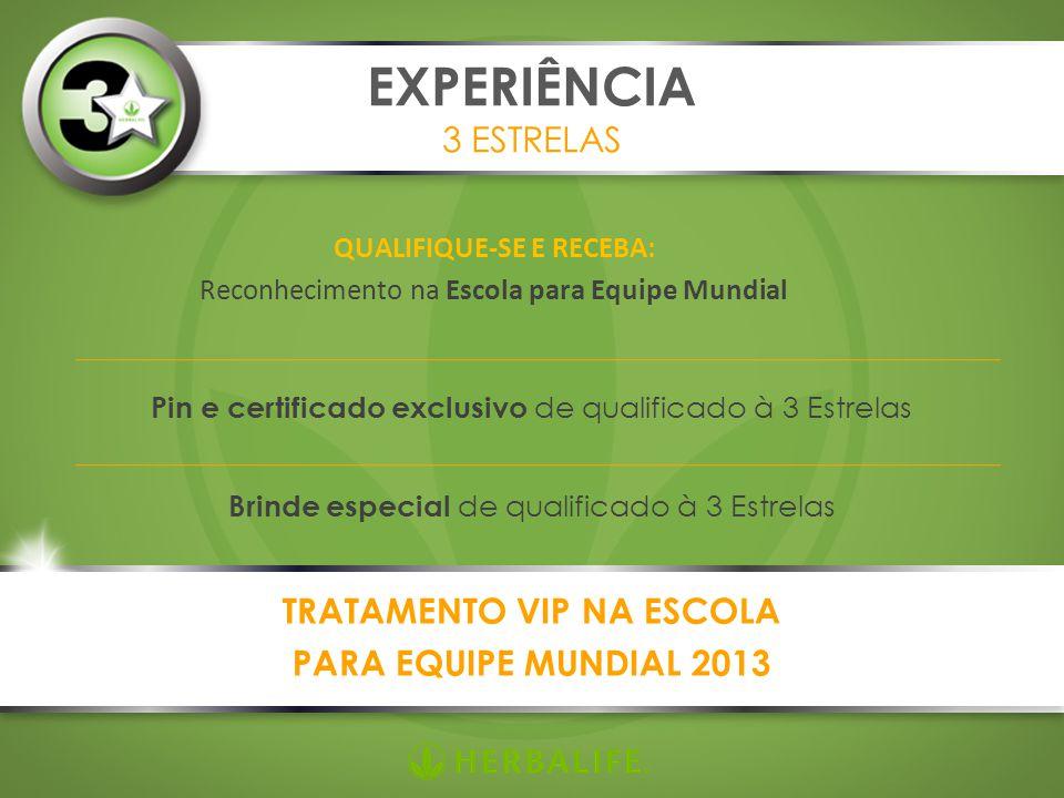 QUALIFIQUE-SE E RECEBA: Reconhecimento na Escola para Equipe Mundial EXPERIÊNCIA 3 ESTRELAS Pin e certificado exclusivo de qualificado à 3 Estrelas Br