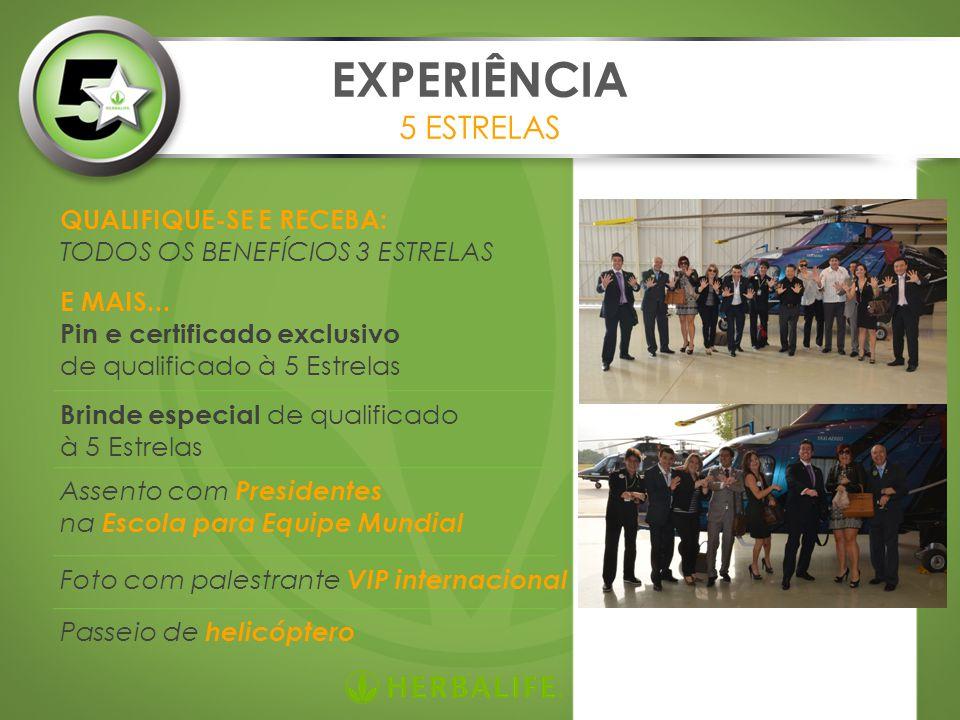 EXPERIÊNCIA 5 ESTRELAS QUALIFIQUE-SE E RECEBA: TODOS OS BENEFÍCIOS 3 ESTRELAS E MAIS...
