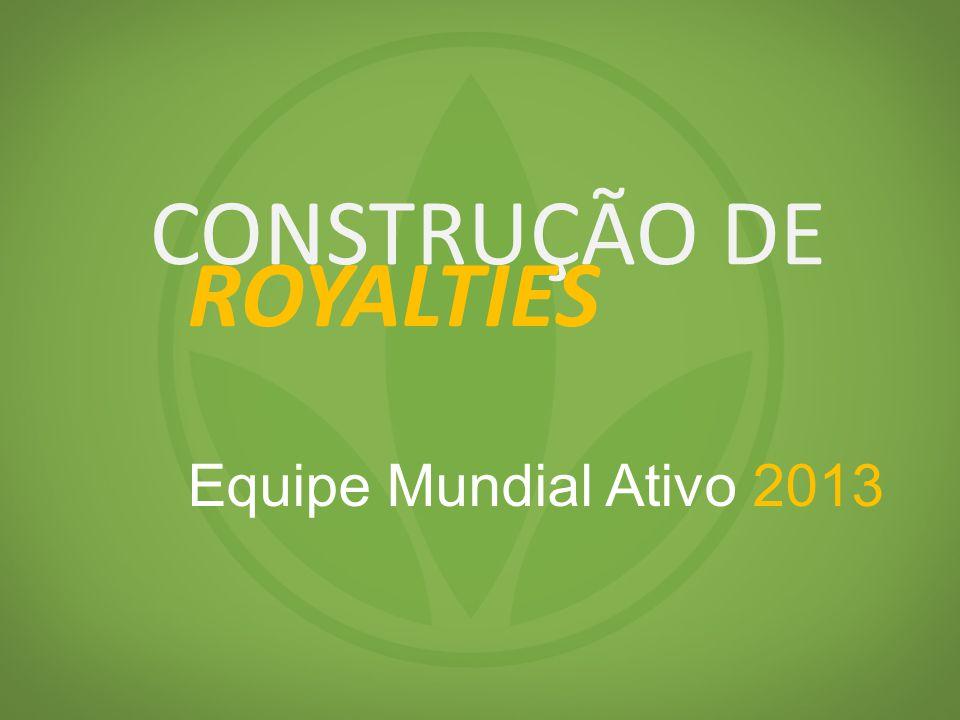 CONSTRUÇÃO DE ROYALTIES Equipe Mundial Ativo 2013