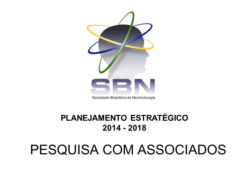 PESQUISA COM ASSOCIADOS PLANEJAMENTO ESTRATÉGICO 2014 - 2018