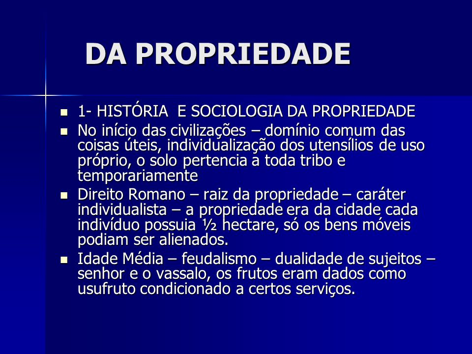 2o ESPAÇO AÉREO — O direito do proprietário sobre o espaço aéreo limita-se a satisfação das necessidades práticas da propriedade.