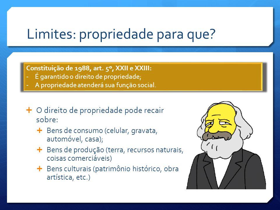 Limites por autoimposição  Superfície: concessão, gratuita ou onerosa, do direito de construir / plantar em terreno (CC, art.