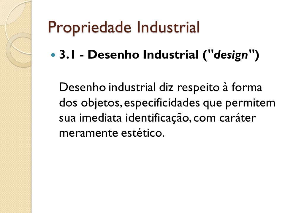 Propriedade Industrial 3.1 - Desenho Industrial (