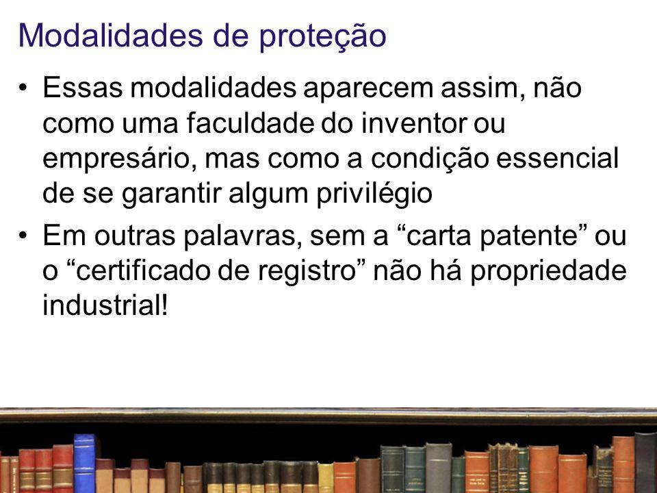 Requisitos Patentes –Novidade absoluta (para PI) ou relativa (para MU) –Inventividade –Industriabilidade Registros –Novidade e/ou Originalidade