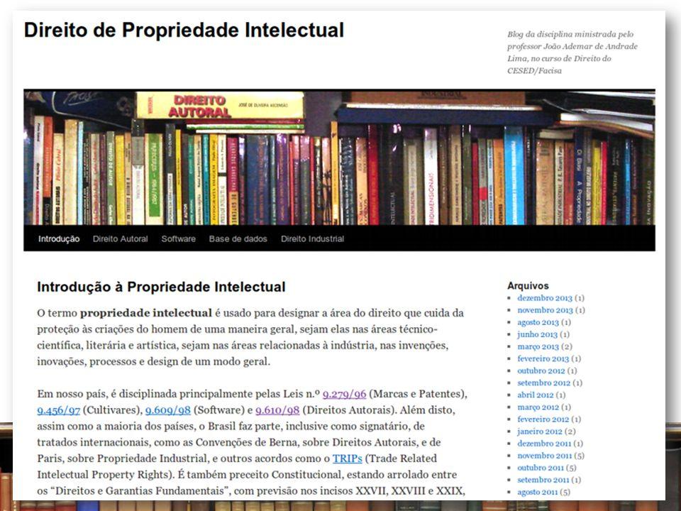 Aula n.º 01 Parte II. Noções Gerais de Propriedade Intelectual