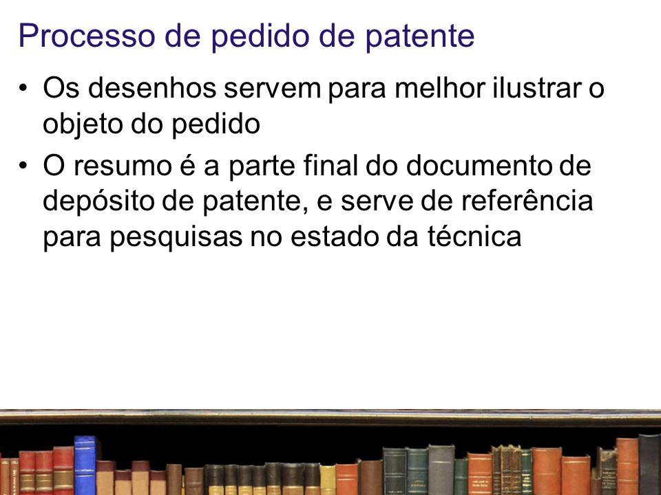 Relatório de patente Formato: –A4, com margem superior de 3 a 4 cm, laterais e inferior de 3 cm Tabulação: –Recomendado espaço 1,5 linha ou duplo, com numeração das linhas de 5 em 5 (recomeçando em cada página) –Numerar as páginas, reiniciando nas Reivindicações, nos Desenhos e no Resumo