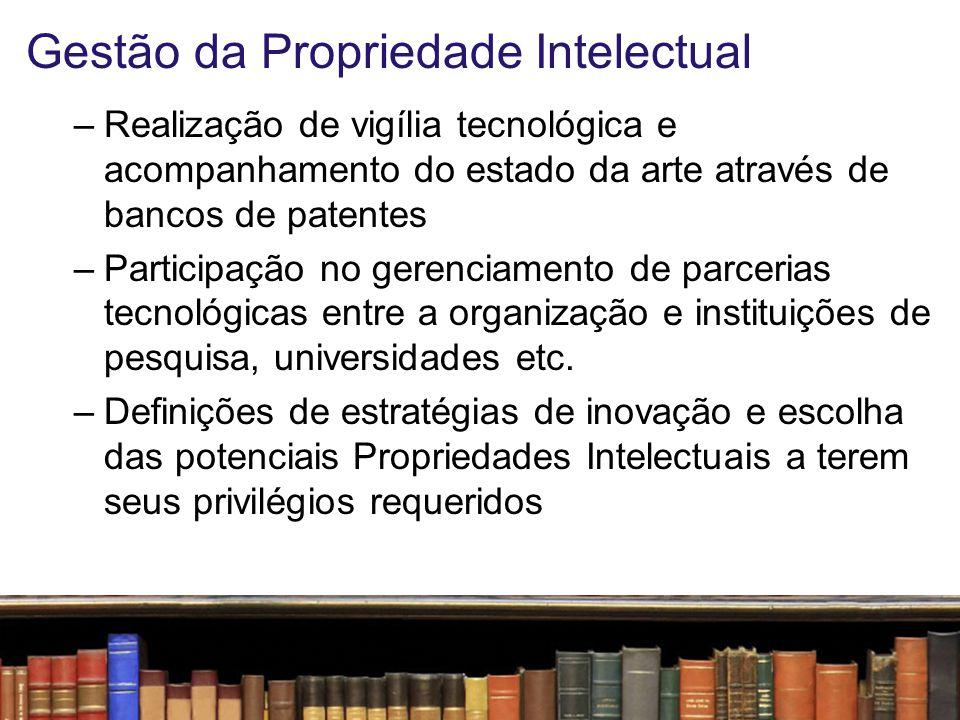 Gestão da Propriedade Intelectual –Feitura e/ou revisão e/ou participação na elaboração de contratos de transferência de Propriedade Intelectual e de contratos de trabalho que resultem em criações intelectuais –Incentivo à produção científica própria e/ou dos parceiros envolvidos
