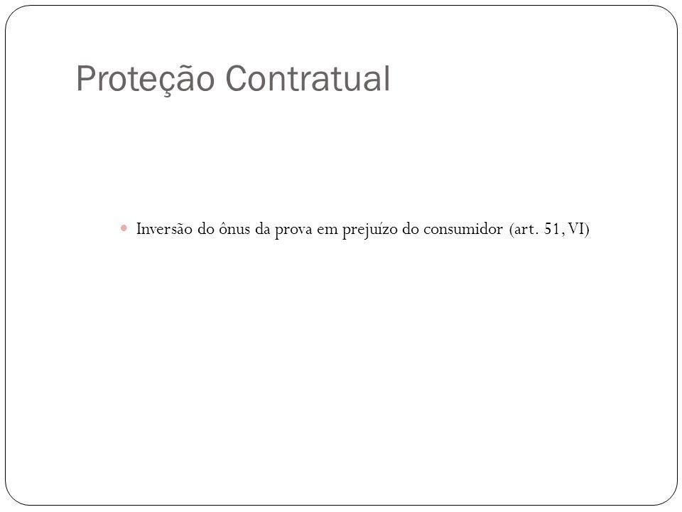 Proteção Contratual Inversão do ônus da prova em prejuízo do consumidor (art. 51, VI)