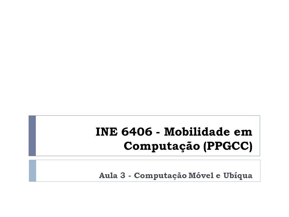 INE 6406 - Mobilidade em Computação (PPGCC) Aula 3 - Computação Móvel e Ubíqua
