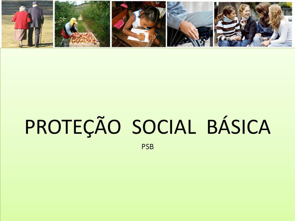 PROTEÇÃO SOCIAL BÁSICA PSB PROTEÇÃO SOCIAL BÁSICA PSB