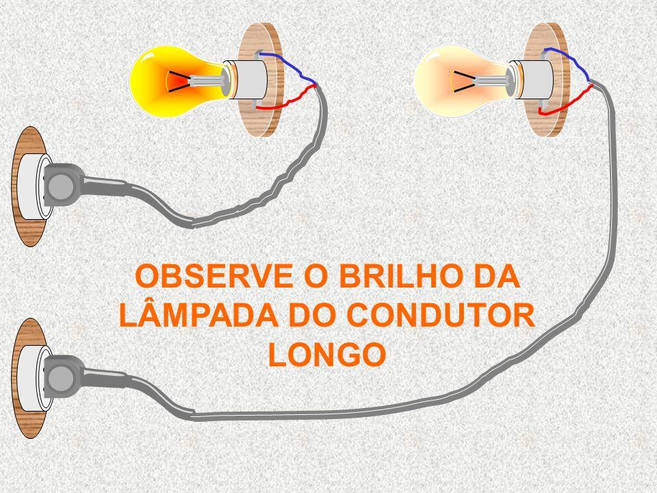 OBSERVE O BRILHO DA LÂMPADA DO CONDUTOR LONGO