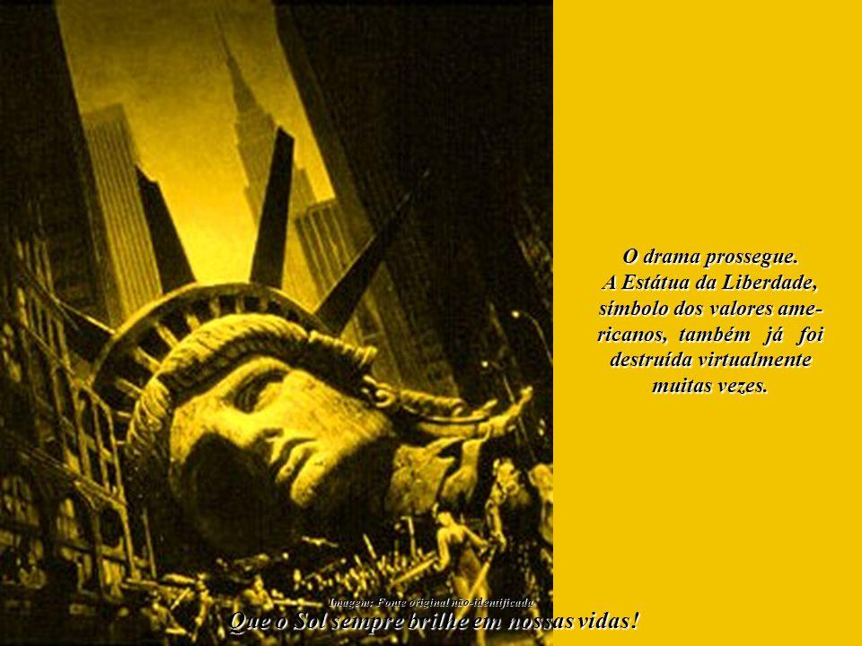 As torres do World Trade Center compunham um belíssimo quadro em No- va Yorque.