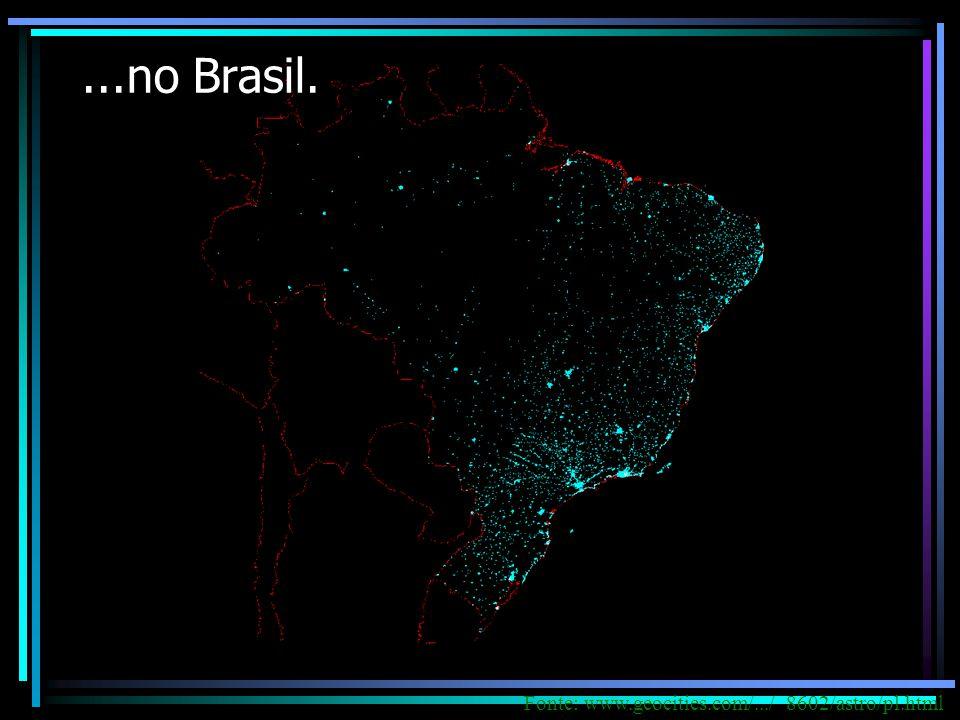 ...no Brasil.