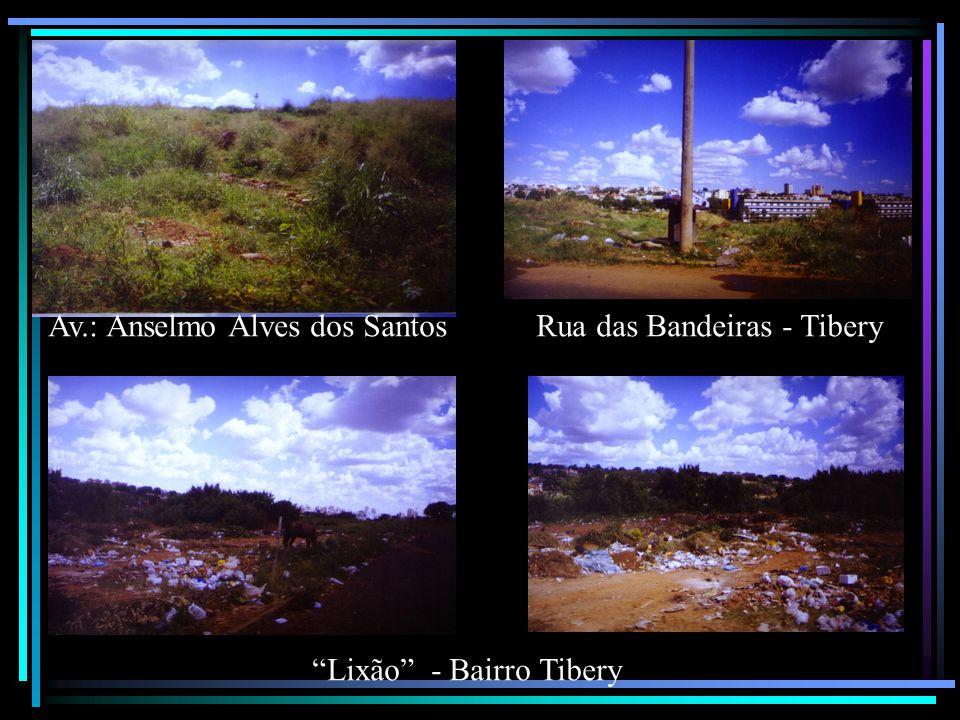 Av.: Anselmo Alves dos Santos Rua das Bandeiras - Tibery Lixão - Bairro Tibery