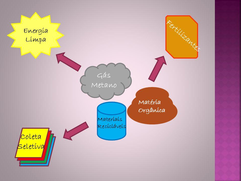 Coleta Seletiva Fertilizantes Gás Metano Matéria Orgânica Materiais Recicláveis