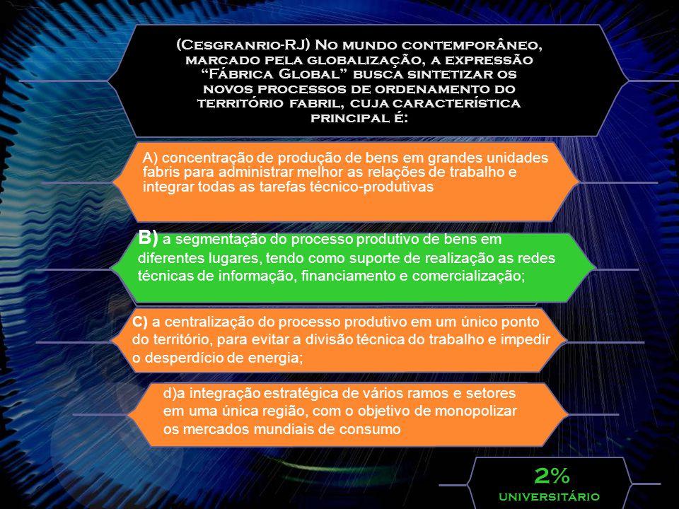 (FUVEST – SP) Em consequência da grande extensão territorial,da posição geográfica e da configuração do seu território,o Brasil é abrangido por quatro