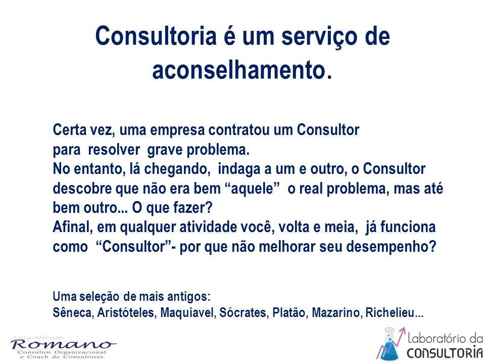 Consultoria é um serviço de aconselhamento.