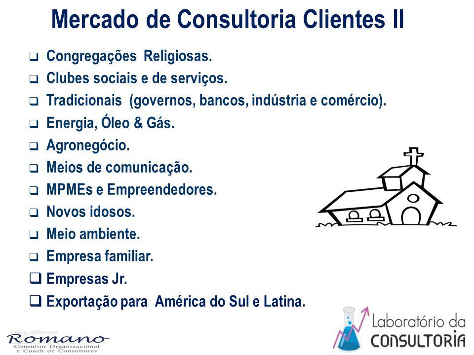 Mercado de Consultoria Clientes II  Congregações Religiosas.